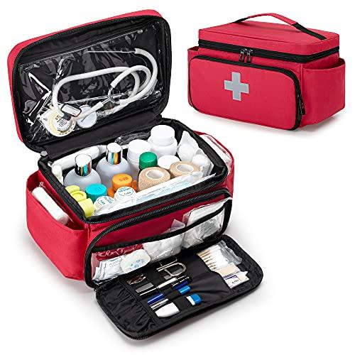 CURMIO Erste Hilfe Sets Tasche, Tragebare Medizinische Tasche für Haushalt, Notfalltasche für...
