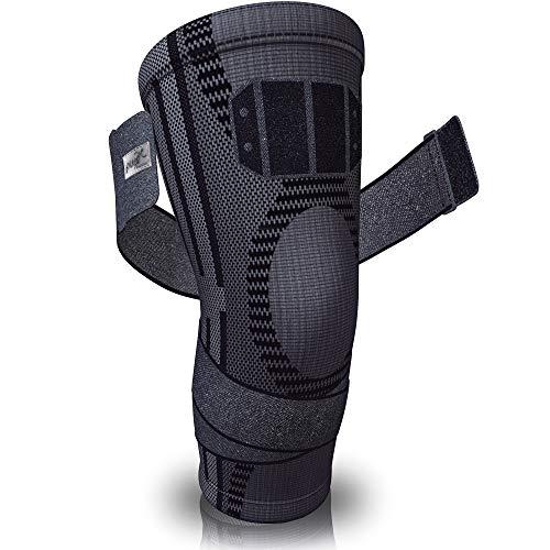 PURE SUPPORT Kniestütze Sport Kniebandage, mit Bänder-Kompression Patella-Stabilisator für...
