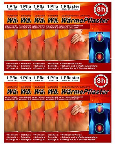 Wärmepflaster für Rücken Schulter Nacken Bauch - Wärmekissen Wärmespender Wärmepads Pflaster...