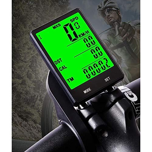 2,8-Zoll-Side-Draht Raincoat-Zyklus-Computer LCD-Entfernungsmesser mit Verlängerungshalter, Bike...
