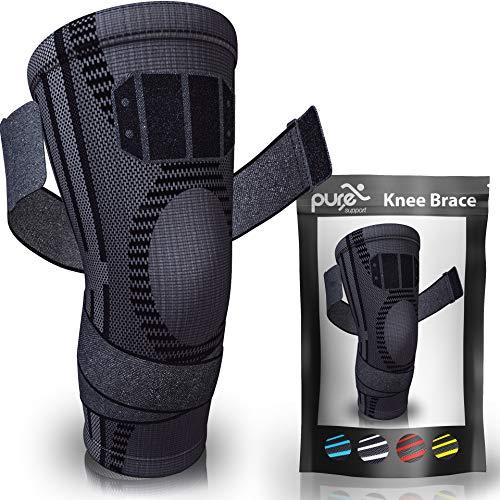 PURE SUPPORT Sport Kniebandage | mit Bänder-Kompression Patella-Stabilisator für Meniskusriss |...