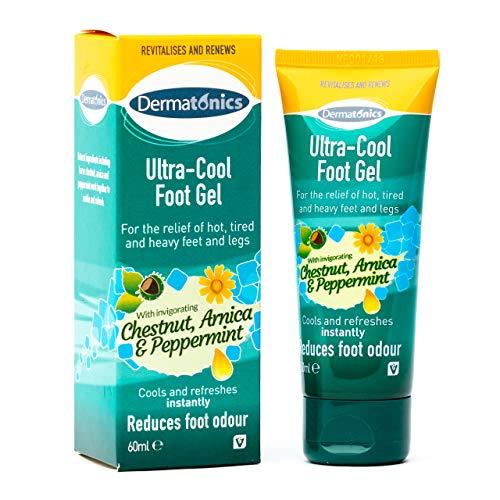 Dermatonics Ultra Cool Fußgel zur Entlastung von heißen Beinen und Füßen, 60 ml