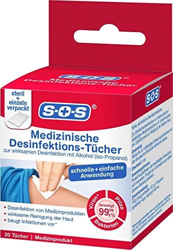 SOS MEDIZINISCHE Desinfektionstücher 20 Stück