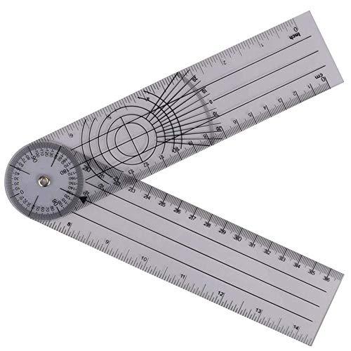 Winkelmesser Goniometer, Stellwinkel, Kurslineal, 360 Grad Messwerkzeug Professionelle Spinale...