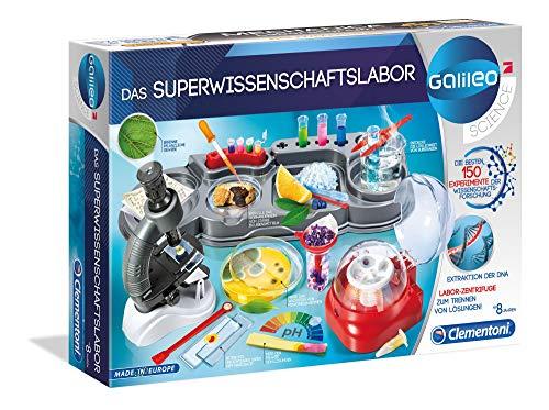 Clementoni 59083 Galileo Science – Das Superwissenschaftslabor, 150 spannende Versuche, Labor mit...