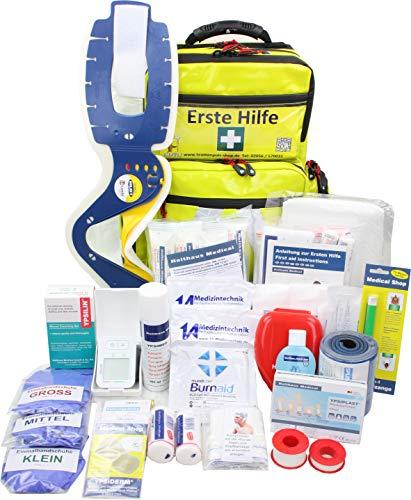 Erste Hilfe Notfallrucksack für Jugendgruppen u. Zeltlager - Plane in gelb - Waterstop...