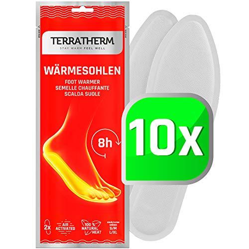 TerraTherm Sohlenwärmer- 10 Paar L, Wärmesohlen für Schuhe Aller Art, Schuhwärmer Einlagen, 100%...
