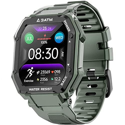 l b s Smartwatch, Activity Tracker, Touchscreen mit Herzfrequenz- und Blutdruckmessung, IP67...