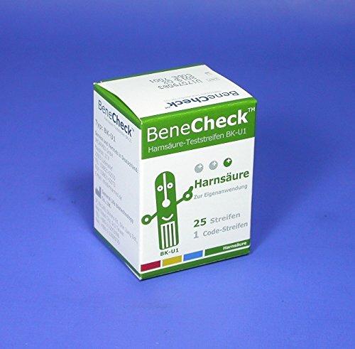 Harnsäure- Teste für BeneCheck UA, 25 St. Mess-Elektroden
