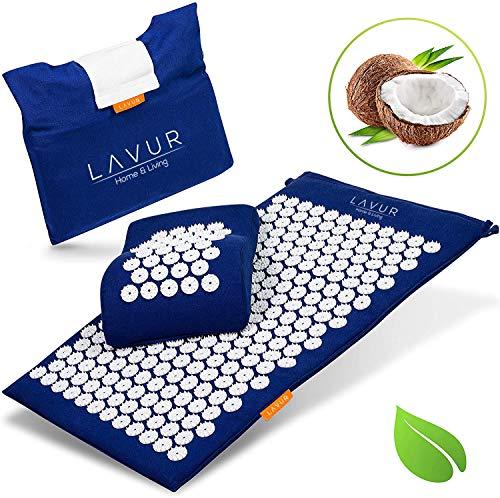LAVUR Home & Living ® Premium Akupressurmatte - Inklusive E-Book mit Anleitung und Anti Stress...
