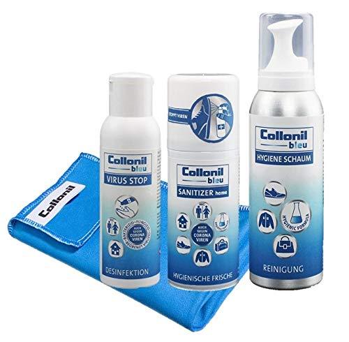 Collonil Bleu Set mit Handdesinfektionsmittel, Flächendesinfektionsmittel, tiefenwirksamen...