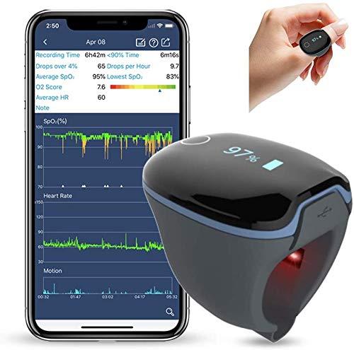 ViATOM Schlafmonitor, Tragbarer Bluetooth-Sauerstoffmonitor Herzfrequenzmonitor,...