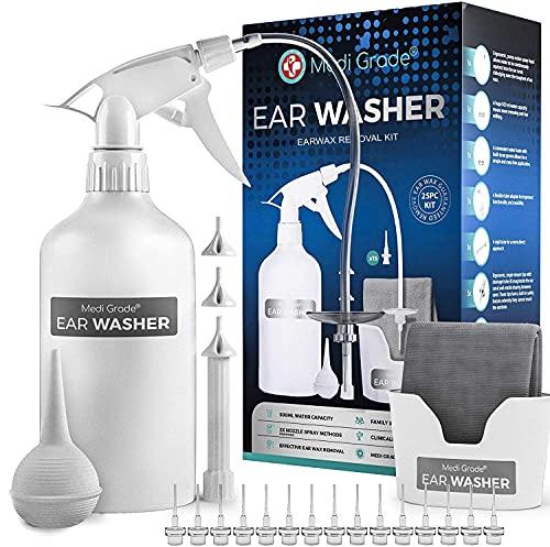 Medi Grade Ohr Reinigung - 16-in-1 Ohrenschmalz Entferner - Sichere Pumpe zum Ohrenschmalz Entfernen...