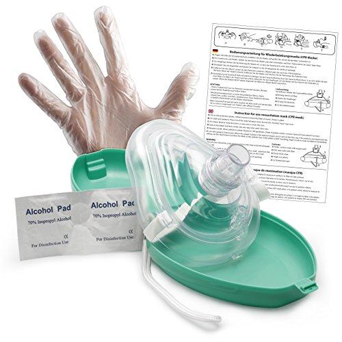 Lunata Reanimationsgesichtsmaske, Laien CPR Erste Hilfe Maske, Notfallbeatmungsmaske, Notfallmaske,...