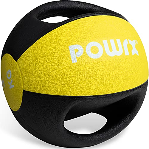 Medizinball mit Griffen Profi 3kg; 4kg; 5kg; 6kg; 7kg; 8kg; 9kg; 10kg I Gewichtsball Studioqualität...