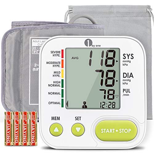 1byone Blutdruckmessgerät Oberarm große Manschette, Blutdruckmessgerät mit App, professionelle...