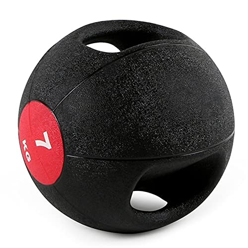 Medizinbälle Doppelgriff Medizinball, Kerntraining Cross Training Wurftraining Gummi Fitness Ball,...