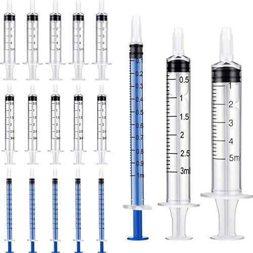 Spritze 1ml/3ml/5ml, 60pcs Plastikspritze, Kunststoff Spritze Dosierspritze für wissenschaftliche...