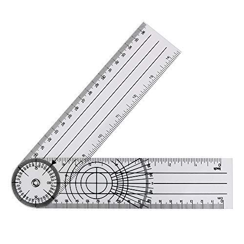 360-Grad-Drehwinkel Spinal Lineal Messwerkzeug Multifunktions-Goniometer Goniometer Winkelmesser