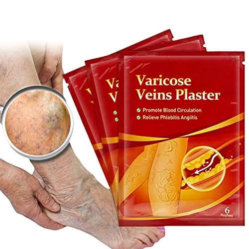Hspemo Krampfadern Aufkleber,6PCS Krampfadern Aufkleber zur Förderung der Durchblutung Krampfadern...