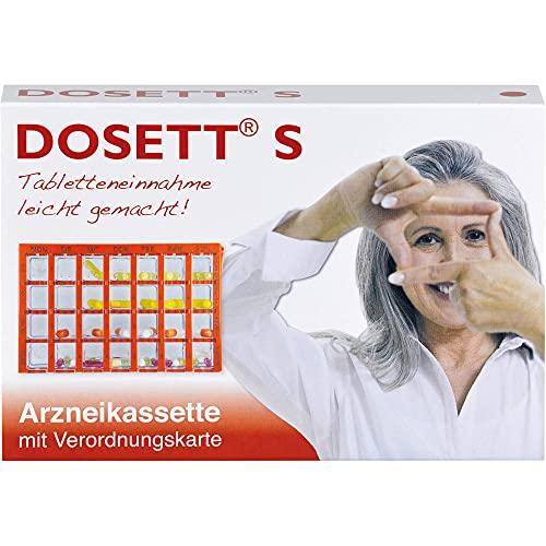 Dosett S Arzneikassette mit Verordnungskarte rot, 1 St. Dosette
