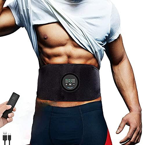 Yonars EMS Trainingsgerät, EMS Bauchmuskeltrainer mit 6 Modi & 18 Intensitäten,...