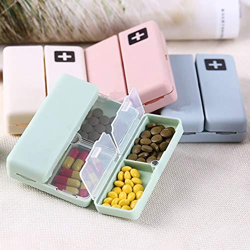 Lsgepavilion Tragbare Wochenbox, 7 Tage, Aufbewahrungsbox für die Tablettenbox, faltbar, Reise,...
