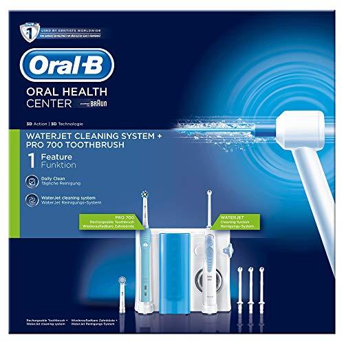 Oral-B Mundpflegecenter PRO 700 Elektrische Zahnbürste + Waterjet Munddusche