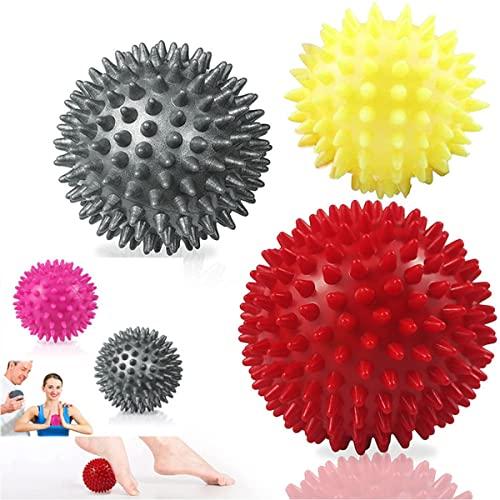 Massageball 3er Set (6.5/7/8.5cm), Auzkong Verschiedenen Härtegraden noppenball, Massagebälle mit...