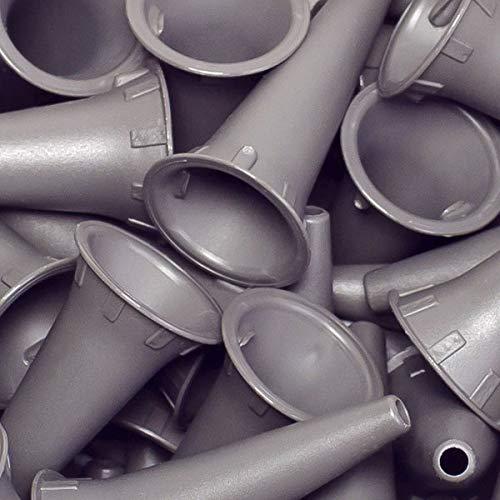 Einweg-Ohrtrichter von Luxamed für alle gängigen Otoskope, Farbe grau, 100 Stück im Beutel (4,0...