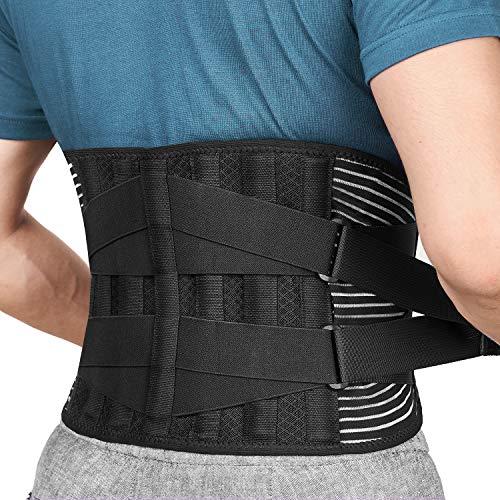 FREETOO Rückenbandage mit Stützstreben und Verstellbare Zuggurte und Atmungsaktiver Nylonstoff...