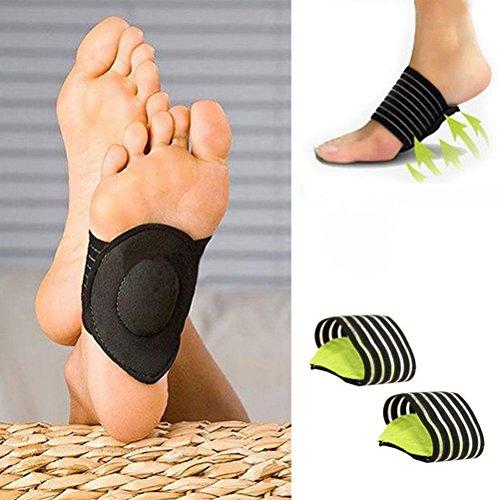 worahroe 1 Paar Bogenstütze Fußkissen Pads Kompressionsmassagegerät für Flache Füße...