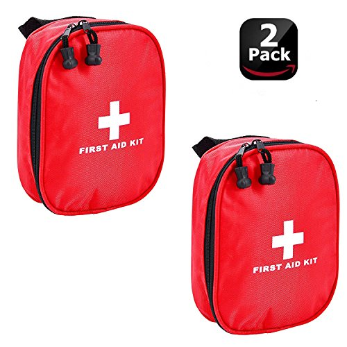 Aranticy Erste Hilfe Set, 2 Stück Leer Erste-Hilfe-Koffer Nylon First Aid Pouch Bag Wasserdicht...