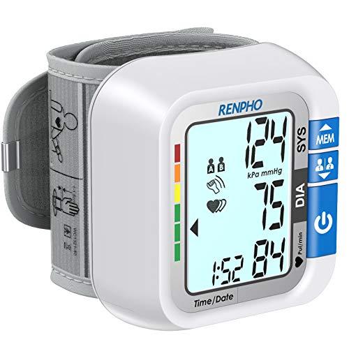 RENPHO Handgelenk-Blutdruckmessgerät, Blutdruckmessgeräte mit Spracheausgabe, Vollautomatische...