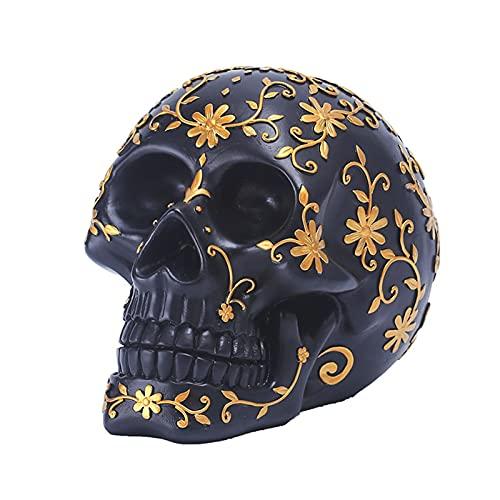 Linier Menschlicher Schädel Modell Erwachsener Kopf Knochen Modell Halloween Muster Schädel...