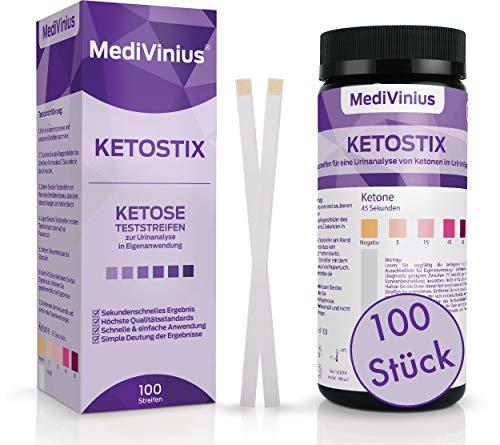KETOSTIX® 100 Stück für sofortige Ketose Messergebnisse I Keton Teststreifen für die effektive...