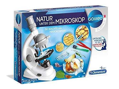 Clementoni 69804 Galileo Science – Natur unter dem Mikroskop, spannendes Labor für kleine...