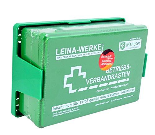 Betriebs Verbandkasten Erste Hilfe Koffer DIN13157 Grün mit Halterung Made in Germany von Malteser...