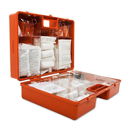 Erste-Hilfe-Koffer gemäß DIN 13169 | großer Verbandskasten für Betriebe | inkl. Wandhalterung |...