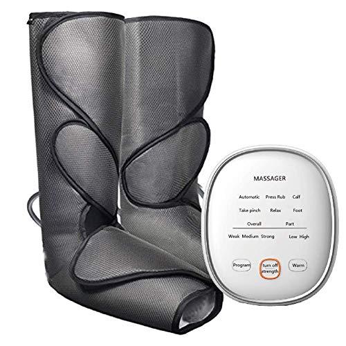 DSGYZQ Upgrade Beinluftdruck-Kompressionsmassagegerät für Fuß- und Wadenzirkulationsmassage mit...