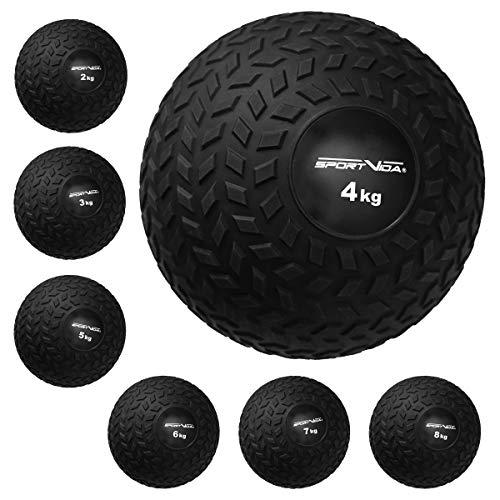 Slam Ball Gummi Medizinball. Fitnessball Gewicht 2-20 kg mit Griffiger Oberfläche. Durchmesser...