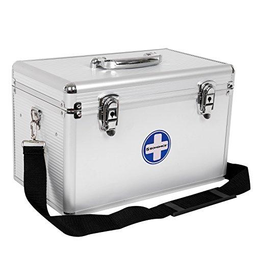 SONGMICS Erste Hilfe Koffer Medizin-Box Aufbewahrungsbox Medikamentenbox Arzneimittel-Box...