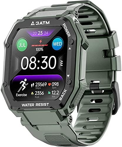 PKLG Smartwatch, Activity Tracker, Touchscreen mit Herzfrequenz- und Blutdruckmessung, IP67...
