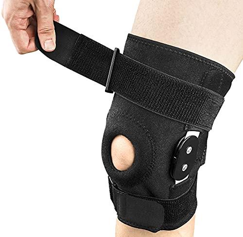 Kniebandage für Patella, Meniskus und Bänder Gelenkschmerzlinderung, Verstellbarer Knieschutz für...
