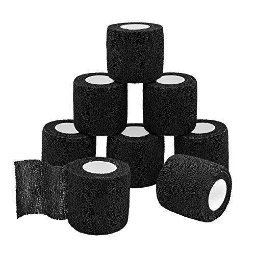 QiGui 8 Rollen Selbsthaftende Cohesive Bandage Haftbandage Verband Fixierverband elastische Binde...