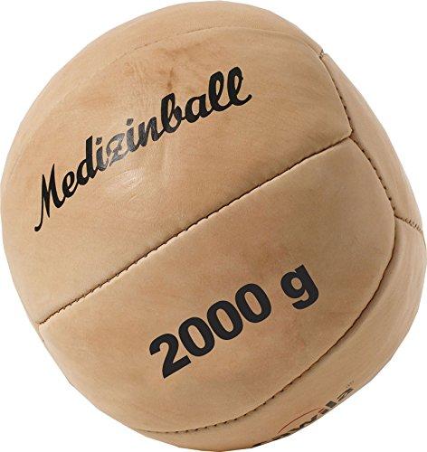 Cawila Medizinball Leder, Beige, 2.0 Kg, 00130840