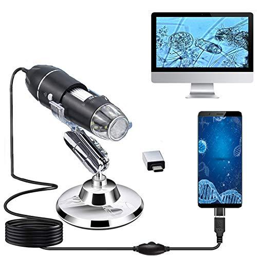 USB Digital Mikroskop,XVZ Handheld 50X bis 1600X Vergrößerung Endoskop,USB Schnittstelle Mikroskop...