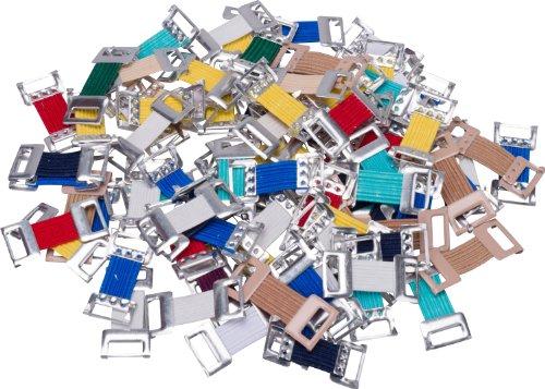 Verbandklammern Mix Verbandklammern farbig sortiert mit Gummiband á 100 Stück, 100 Stück