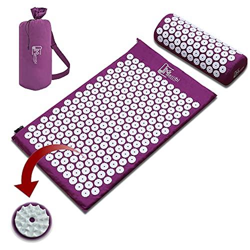 Akupressurmatte für Massage & Schmerzlinderung, Shakti Matte Set für Entspannung | Yantramatte,...