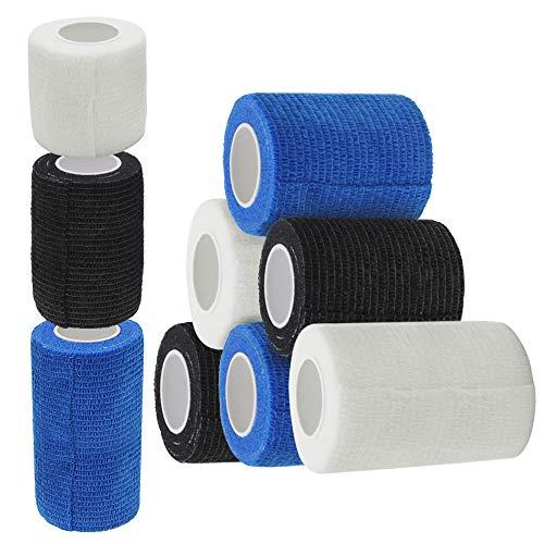 Erste Hilfe Bandage, Homgaty Elastische Binde Haftbandage Selbstklebende Bandagen Cohesive Bandage...